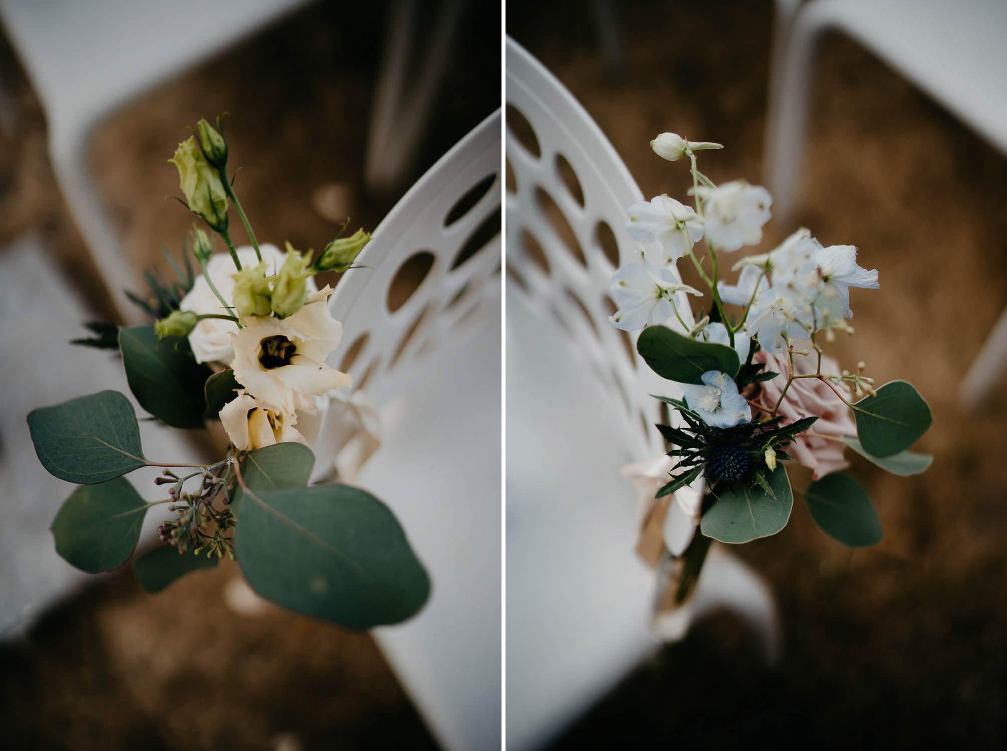 Wedding photographer Mark Hadden ceremony flowers details