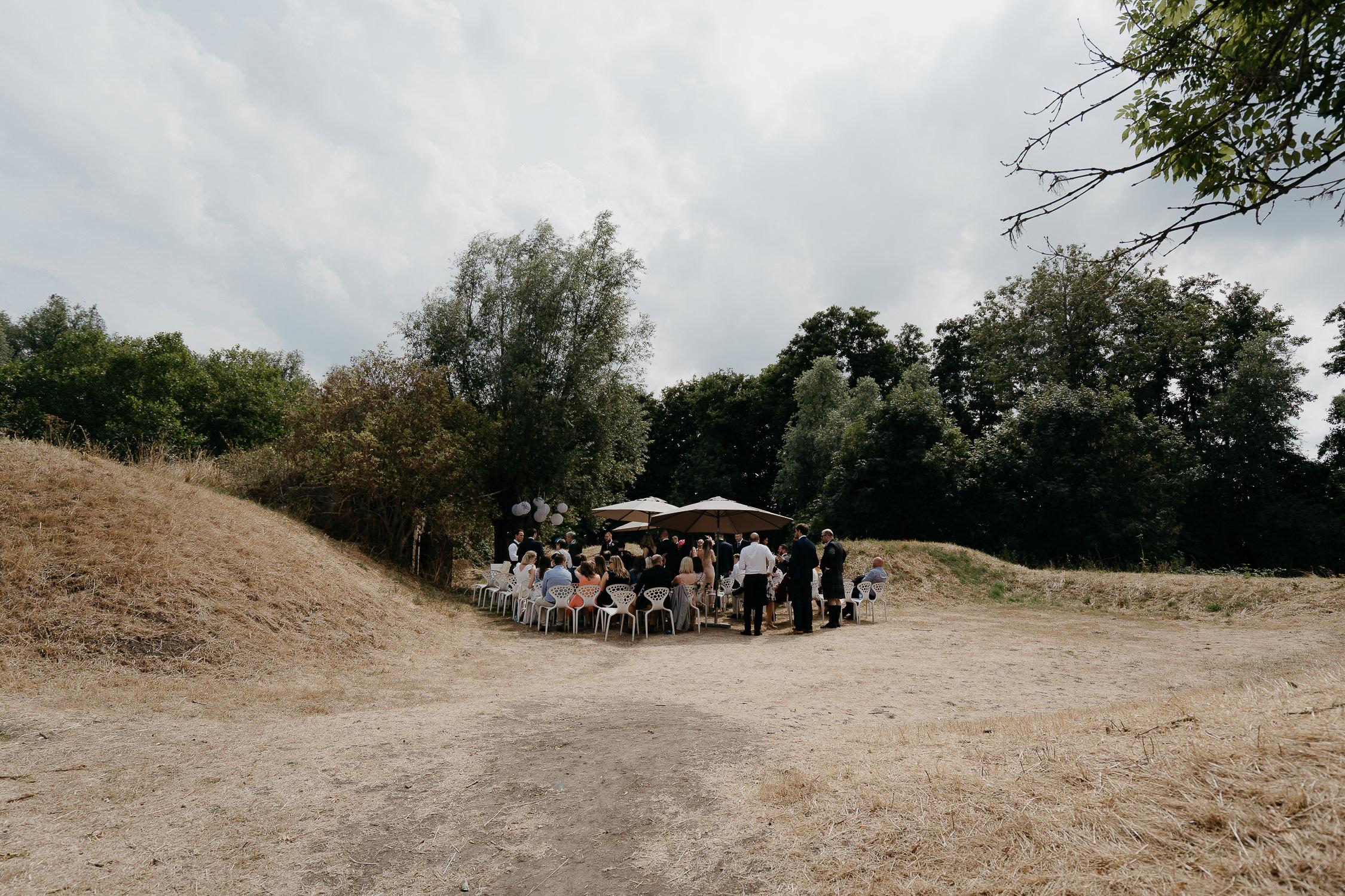 Beautiful wedding ceremony location puur paviljoen photographer Mark Hadden