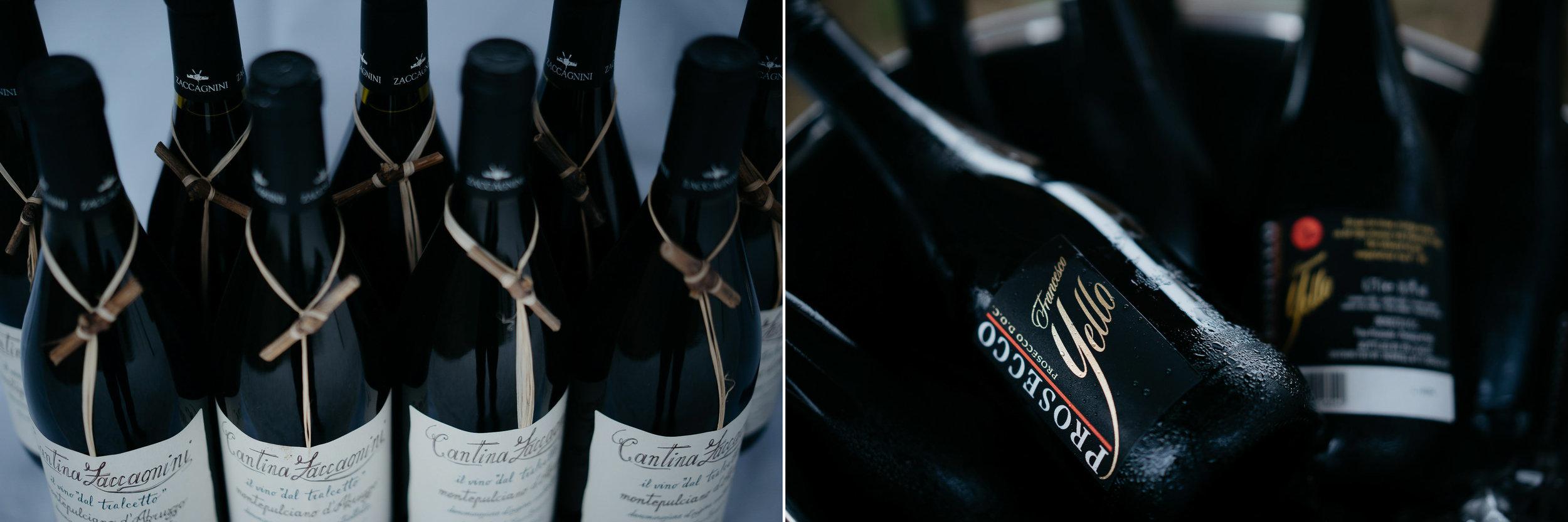 wedding photography details yello wine
