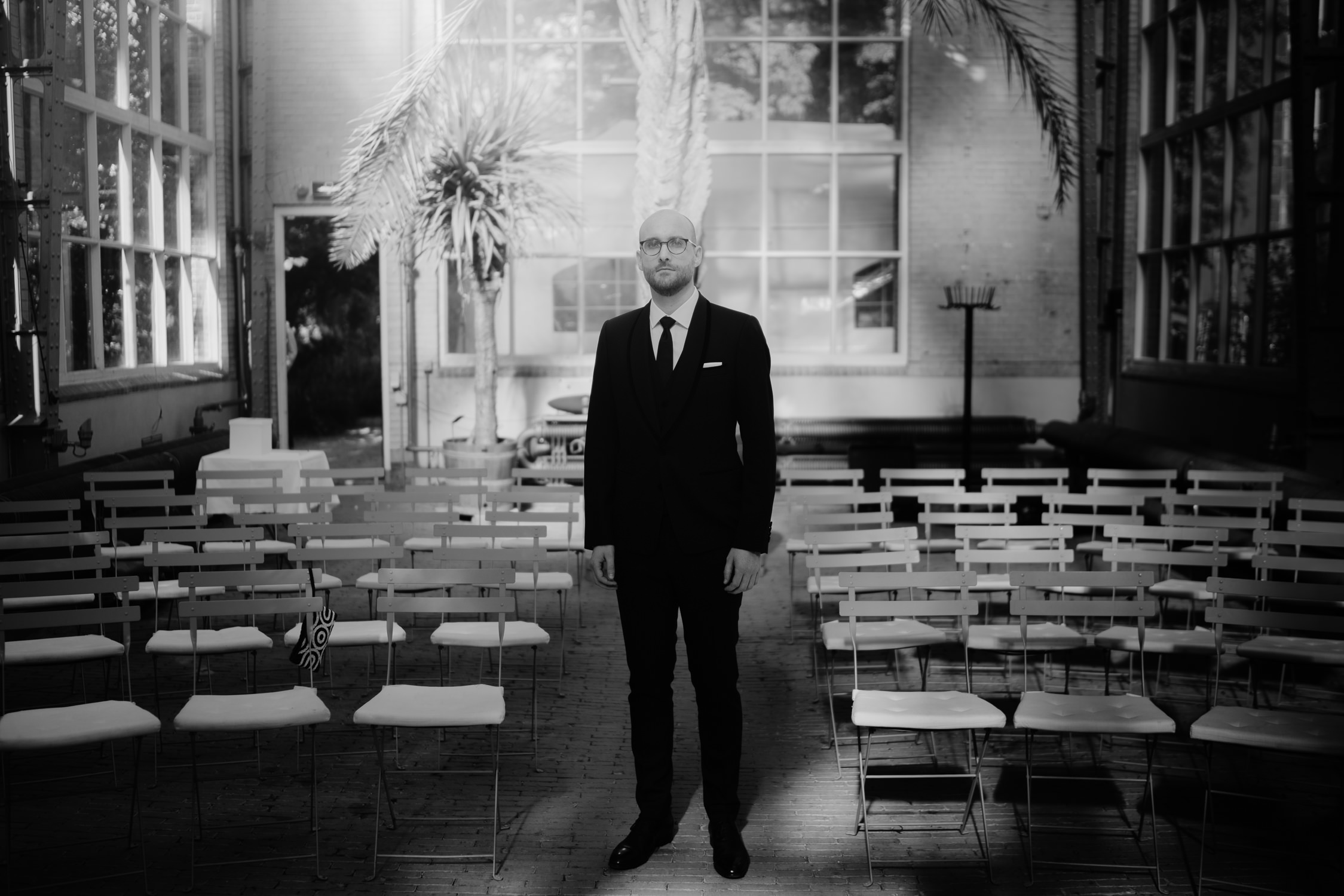bruidsfotografie amsterdam portret van bruidengom