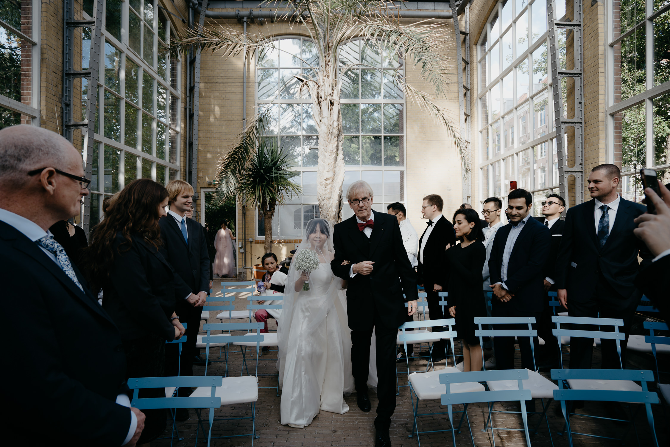 bruidsfotograaf in Amsterdam Mark Hadden Hortus Botanicus bruiloft ceremonie