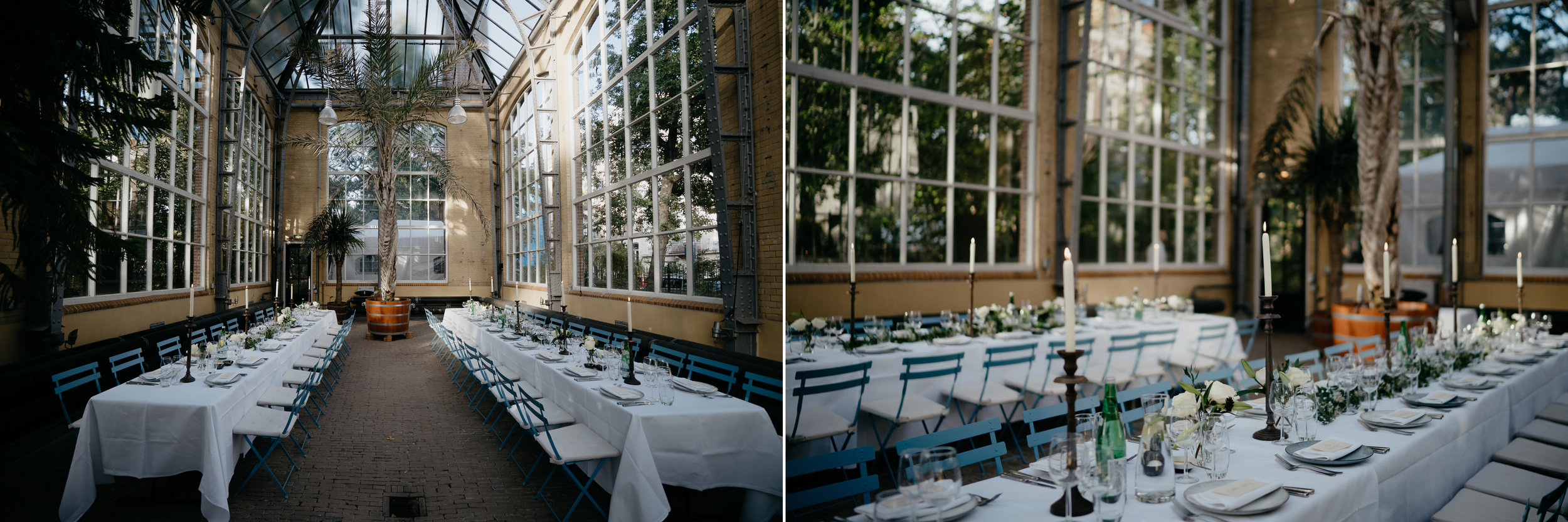 wedding dinner amsterdam hortus botanicus