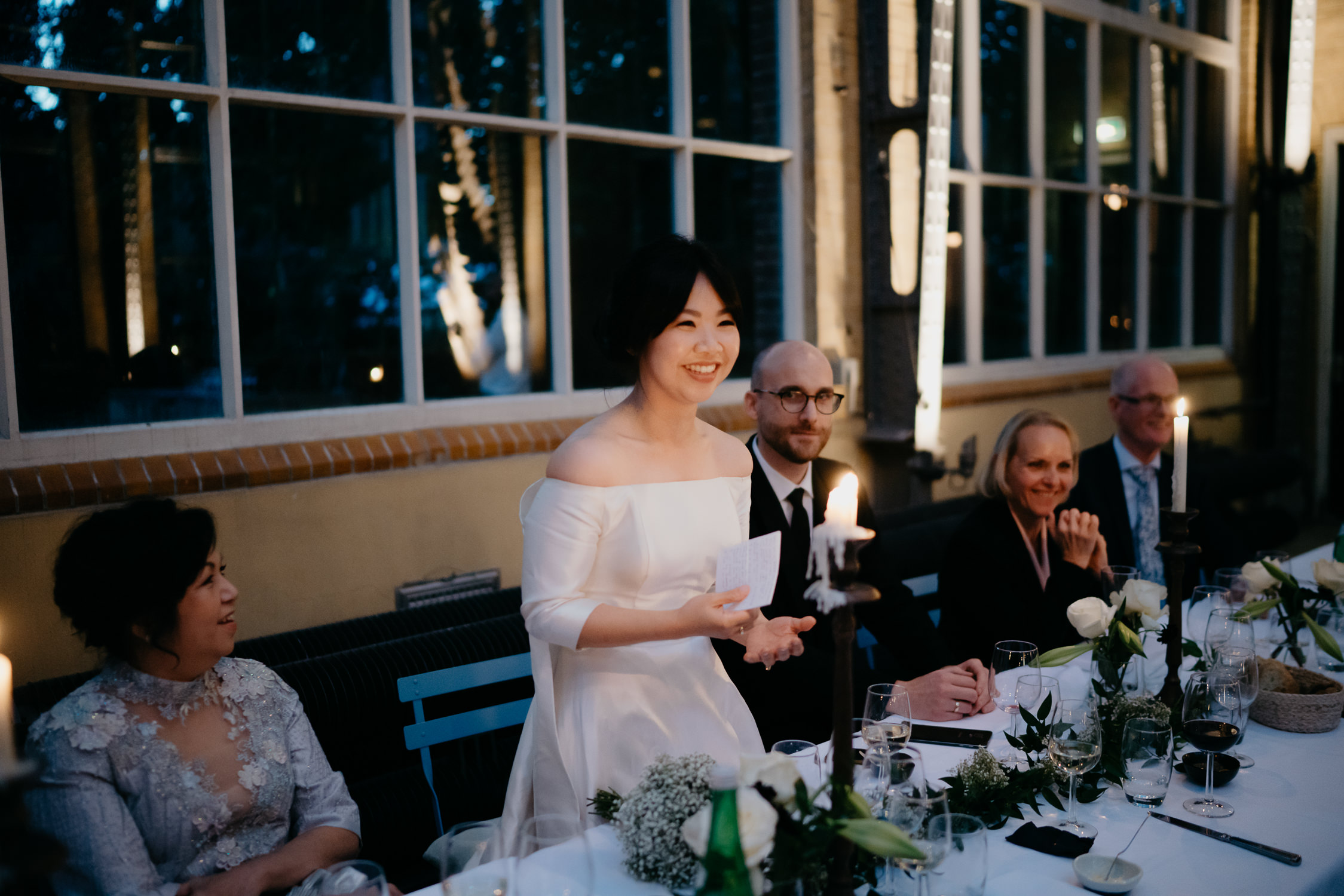 beautiful bride on her wedding in botanical garden