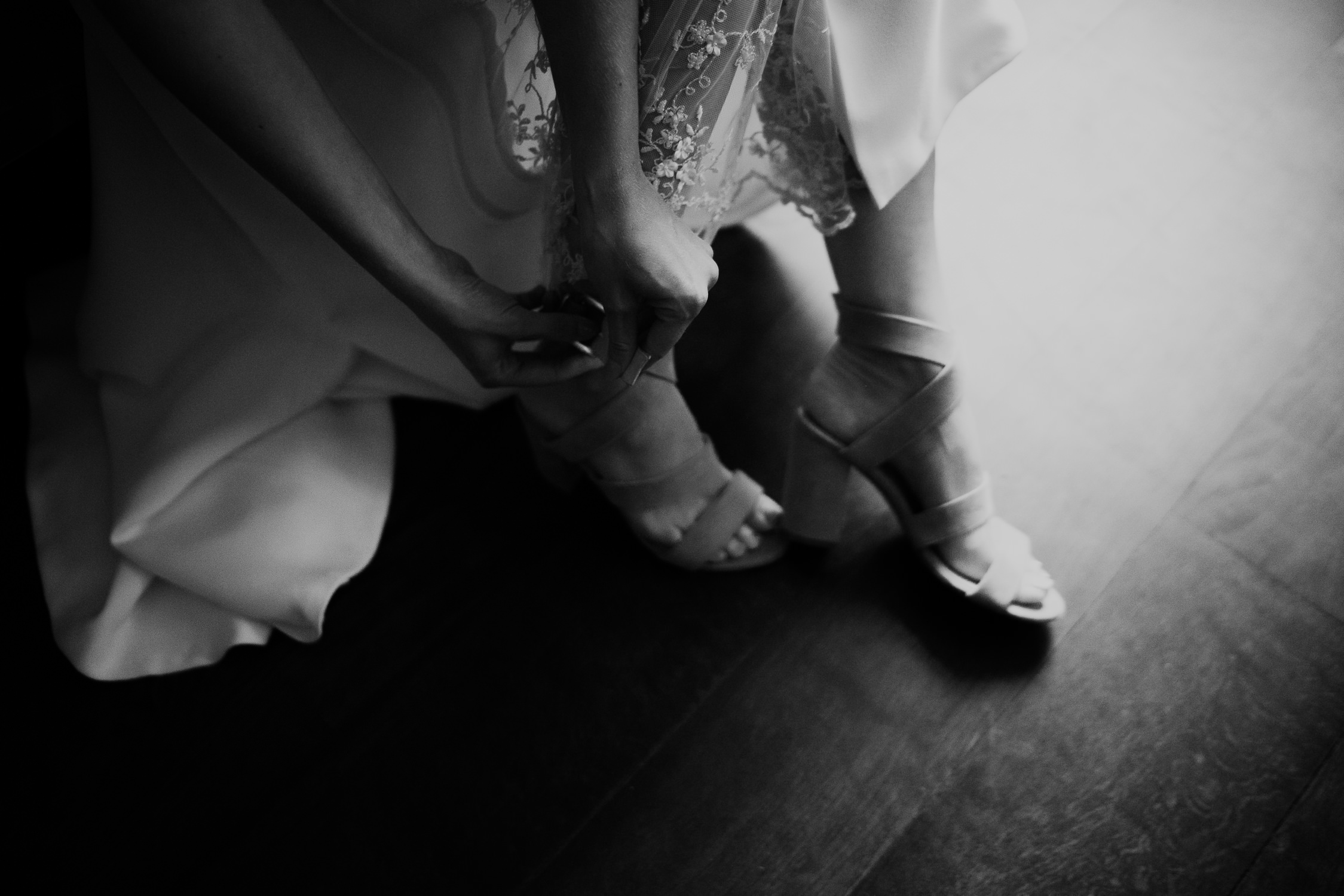 Lovely detailed shoes wedding photography Mark Hadden