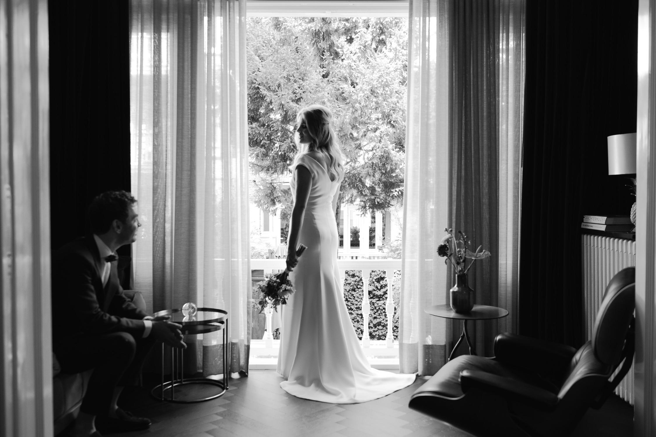 bridal portrait session summer wedding amsterdam photography