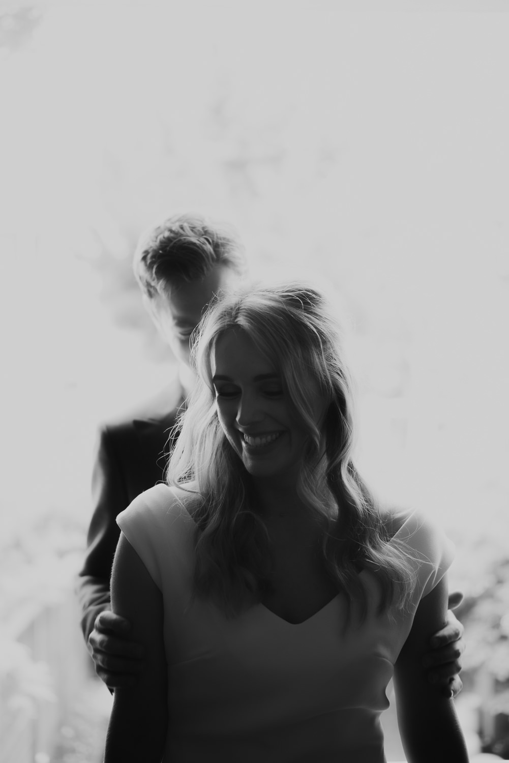 Beautiful portrait of couple on their wedding day
