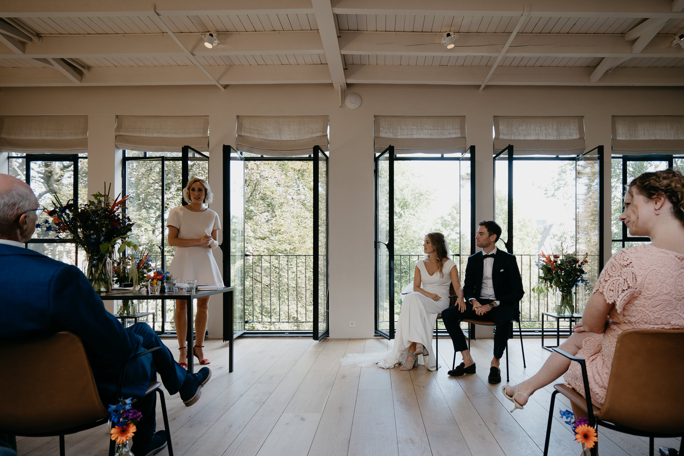 wedding ceremony in lovely venue in Amsterdam