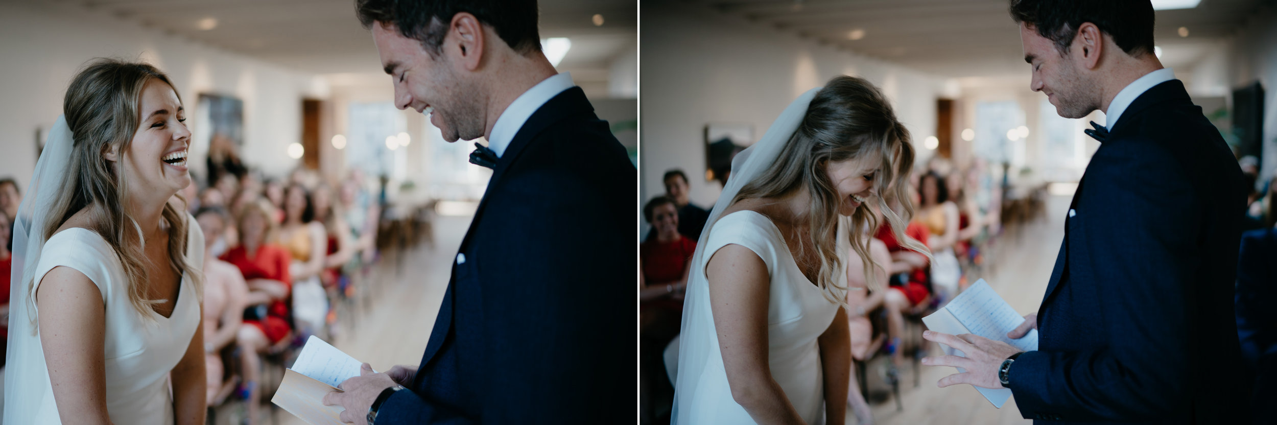 special moment during a wedding reading the vows by mark hadden photography