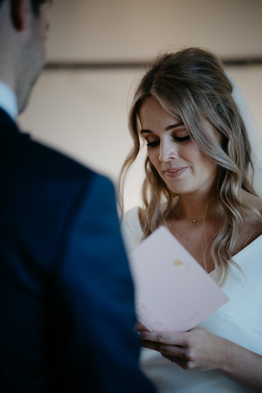 wedding photographer mark hadden couple reading vows