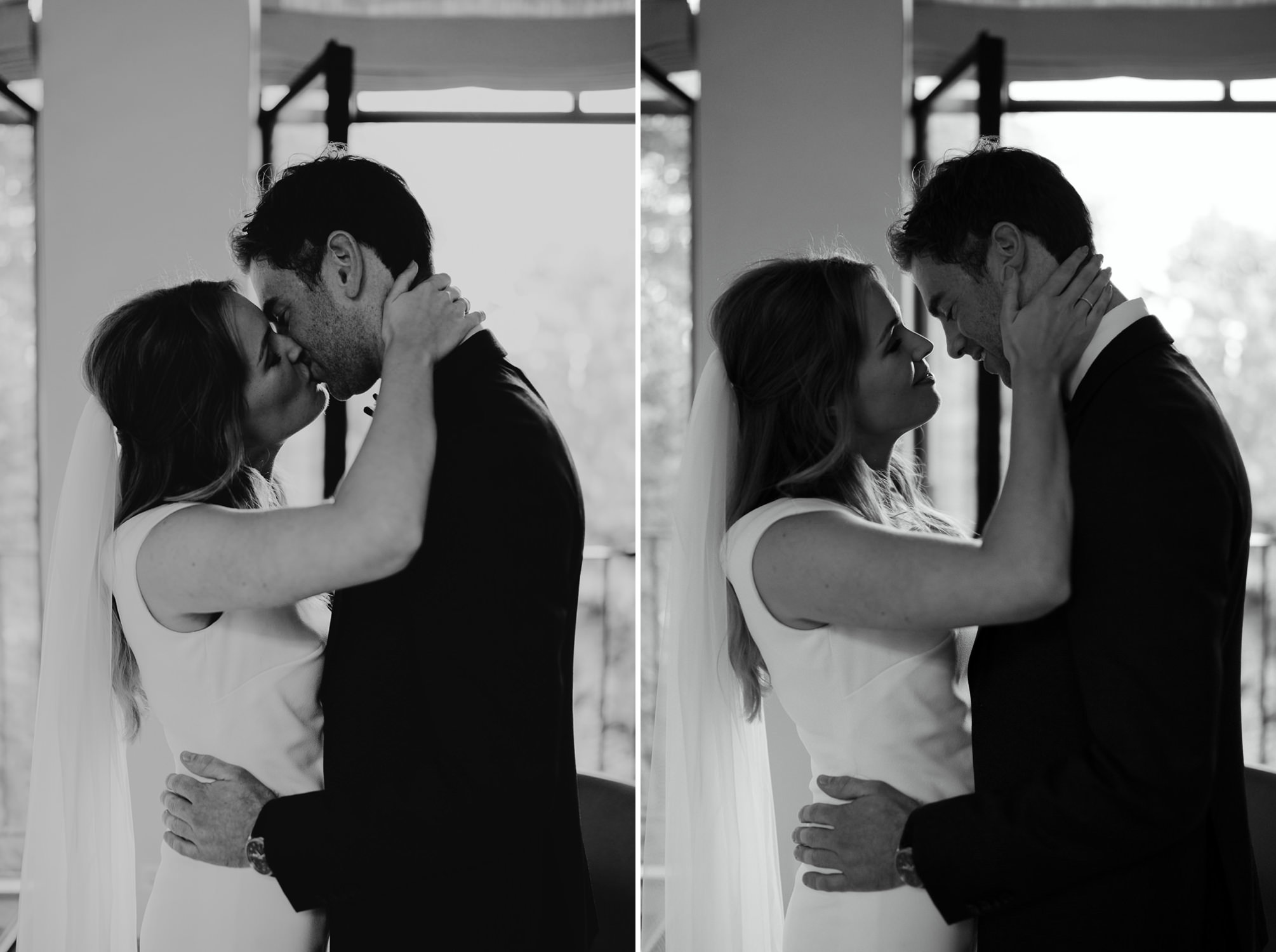 Lovely just married moment captured by the amazing wedding photographer Mark Hadden
