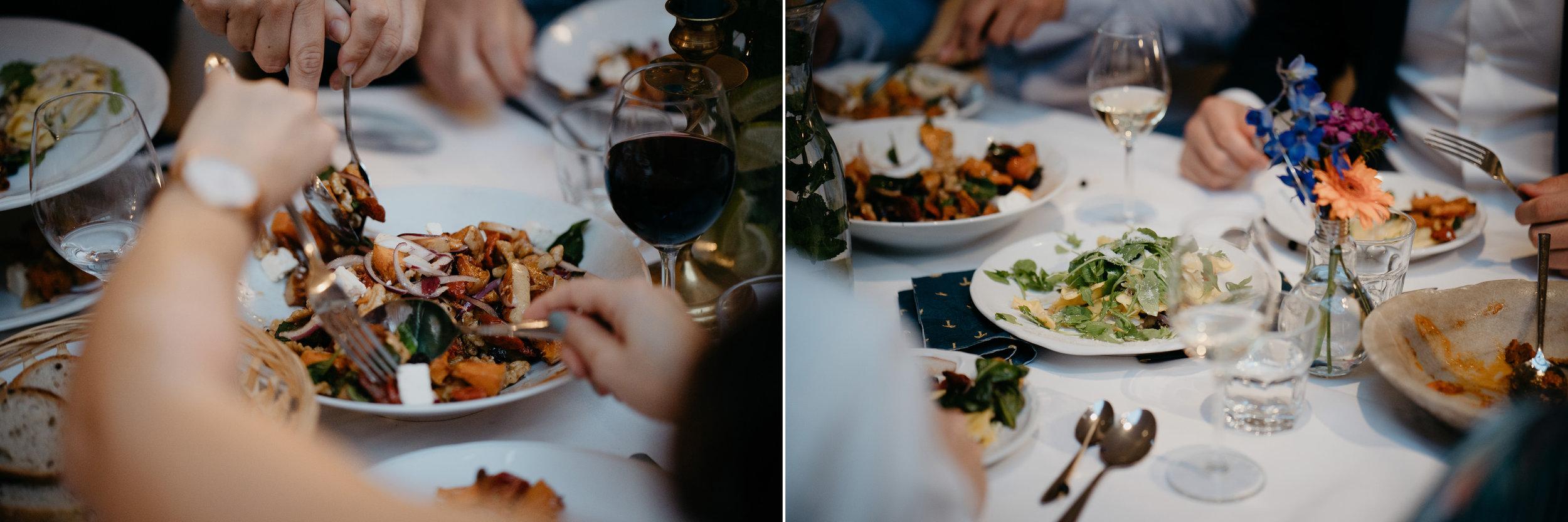 wedding dinner during a lovely wedding in amsterdam wedding photographer mark hadden