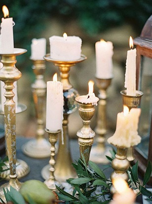 wedding photography DIY candle holders decoration idea's