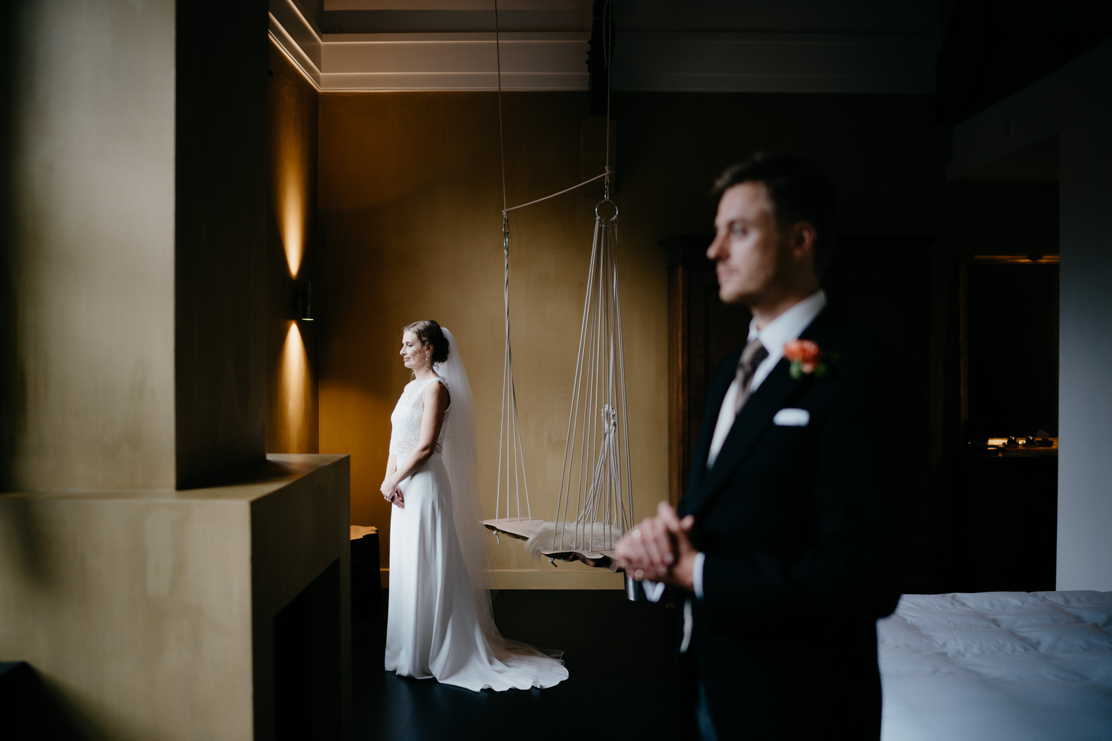bride and groom portrait marriage ceremony photography