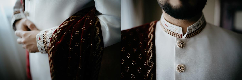 portrait of groom details indian wedding photography