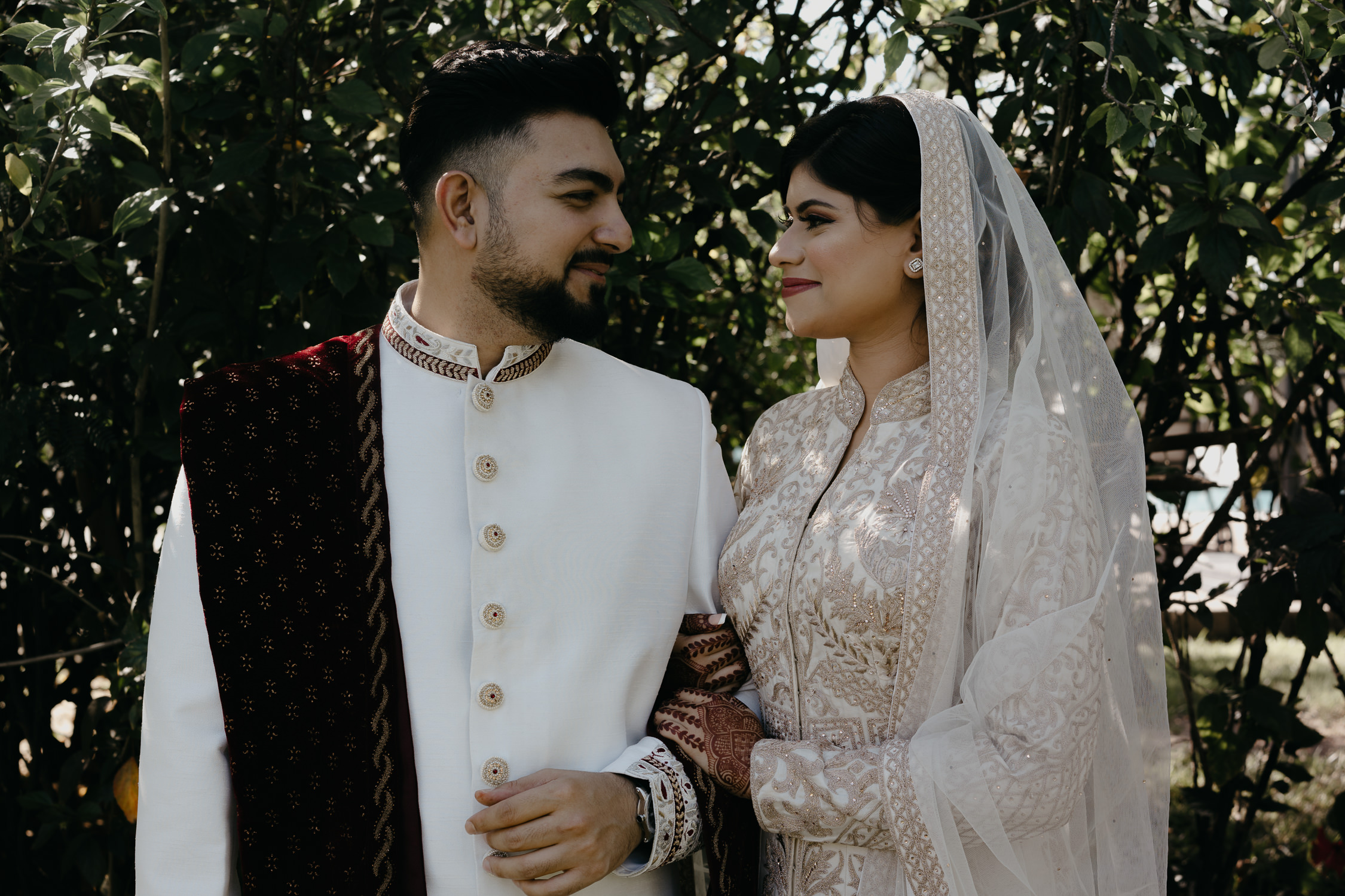 couple on indian wedding day portrait photography