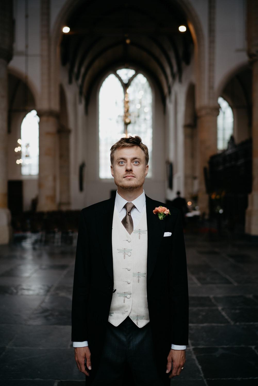 groom photographed by amsterdam wedding photographer