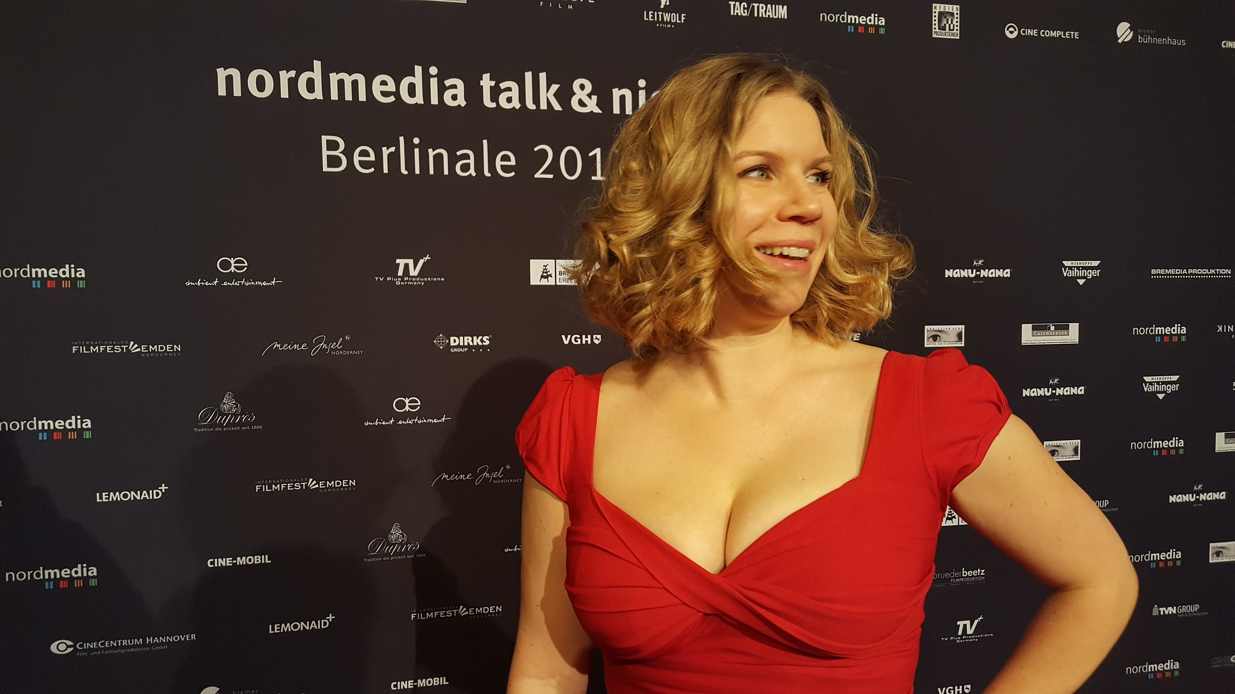 Occasionally funny / mostly curvy: Walking the red carpet at Nordmedia Night, Berlinale 2017