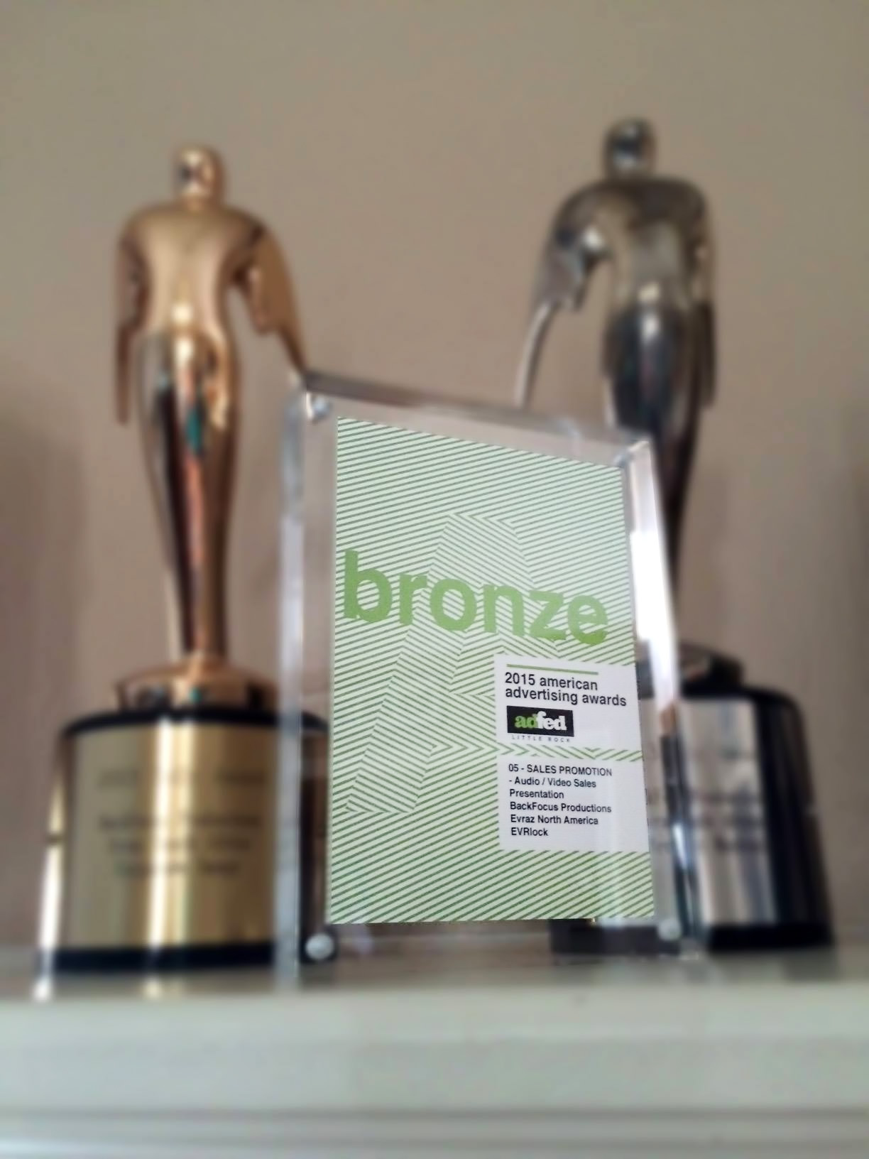 Our new AAF award will keep the Telly's company on the mantle.