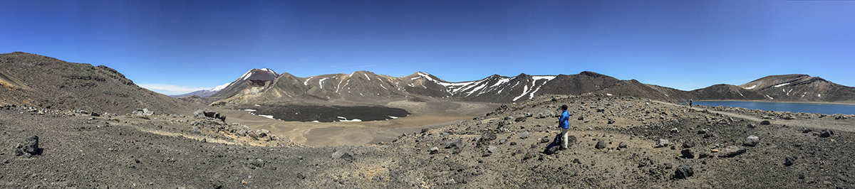 That's me....facing back towards the Central Crater and Mount Ngauruhoe. The Blue Lake is behind me.