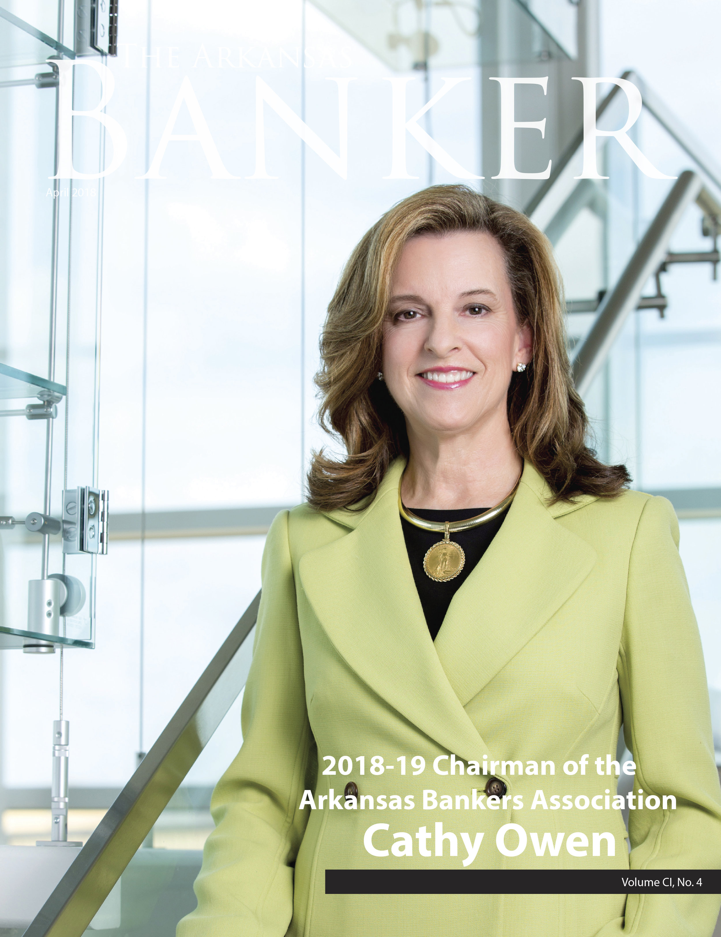 Cathy Owen, 2018-2019 Chariman of the Arkansas Bankers Association.