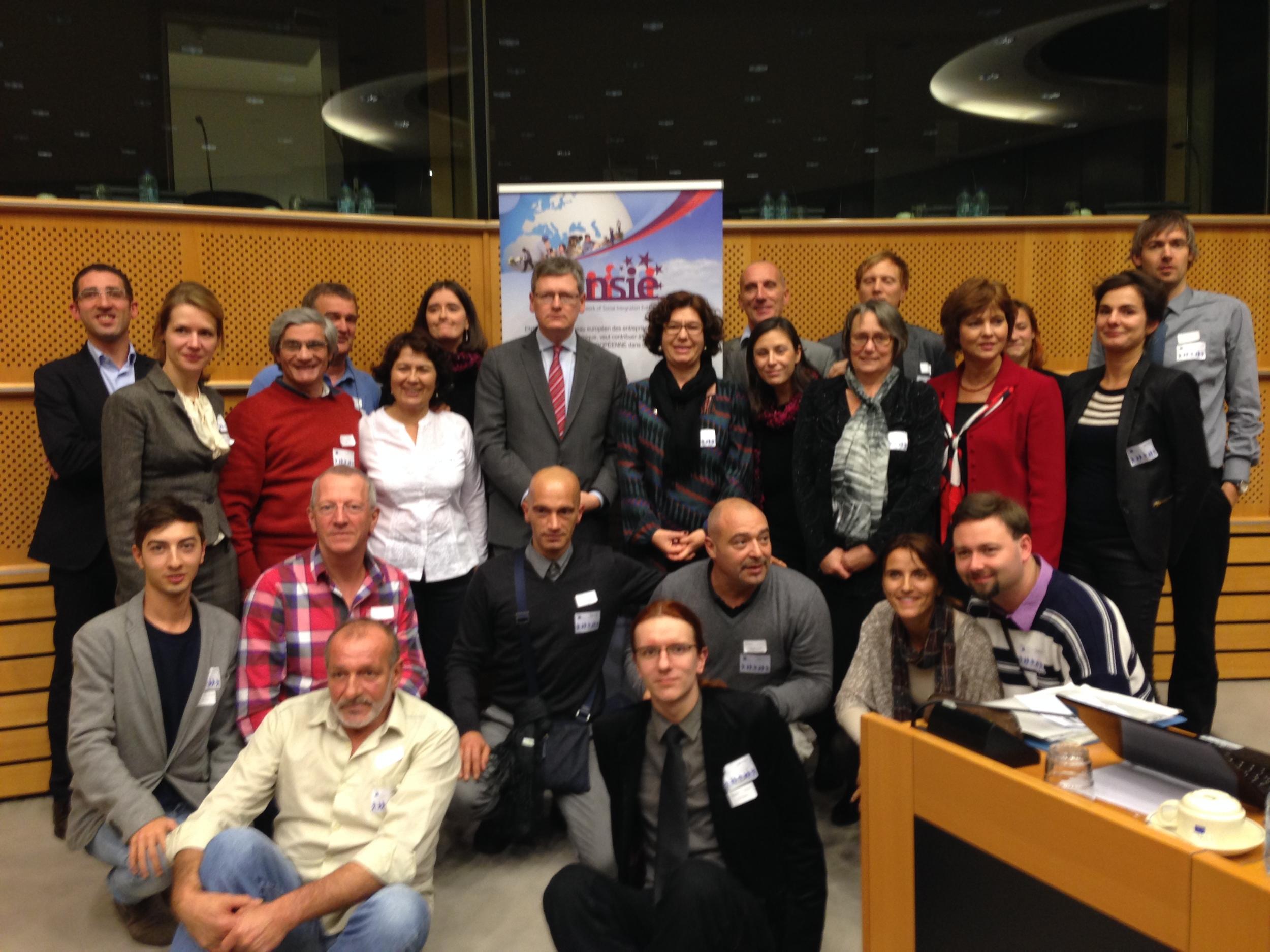 Work Integration Social Enterprises key players at the European Parliament, Brussels