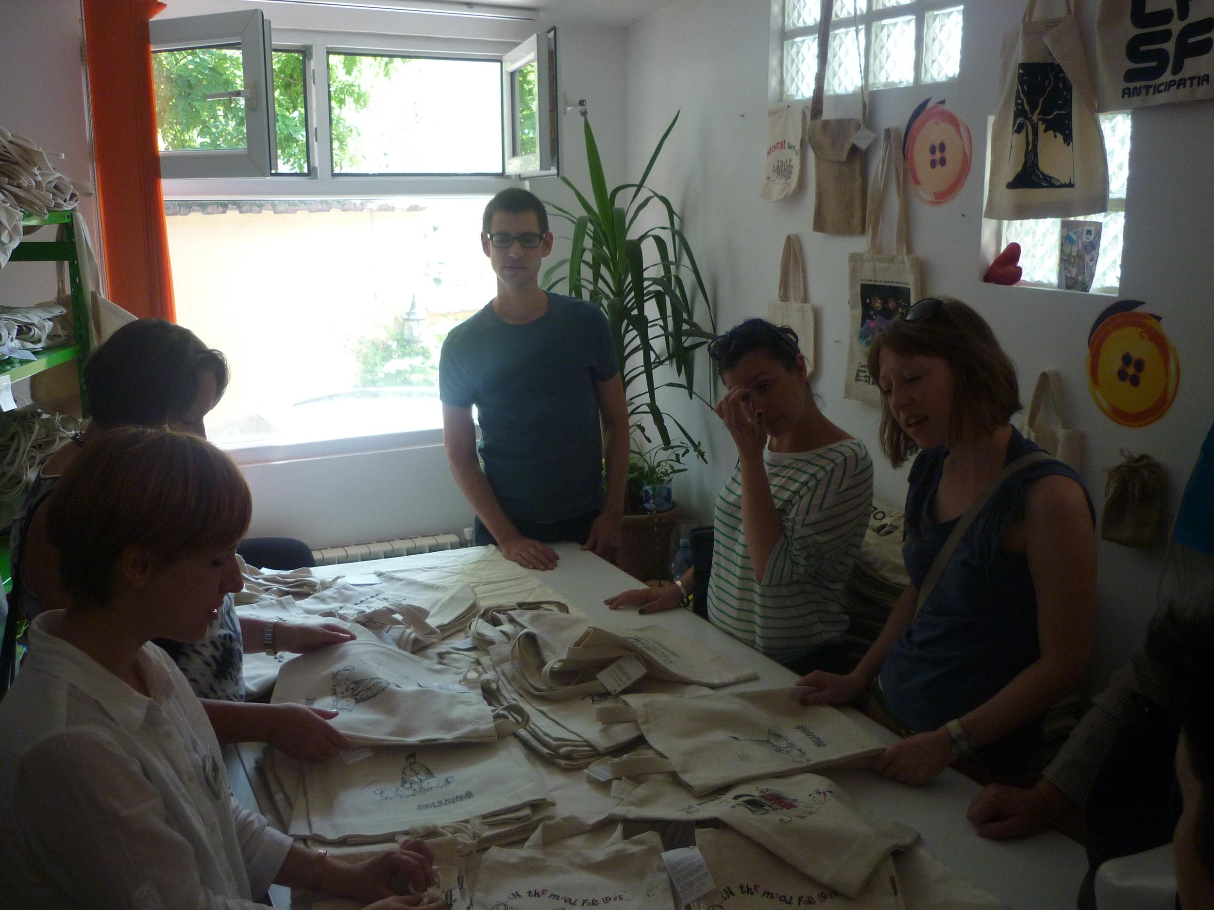 visit social enterprise Atelierul de panza Bucharest.JPG