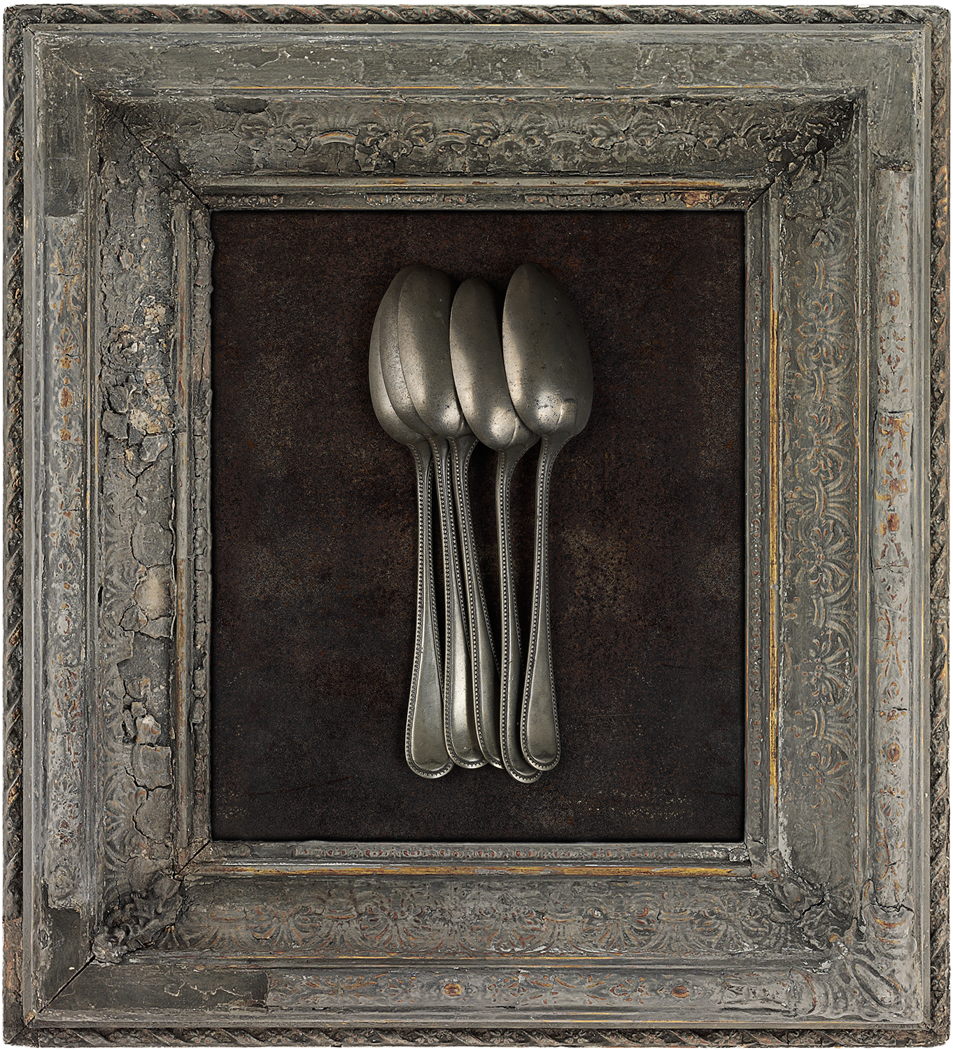 #47 Five Pewter Spoons