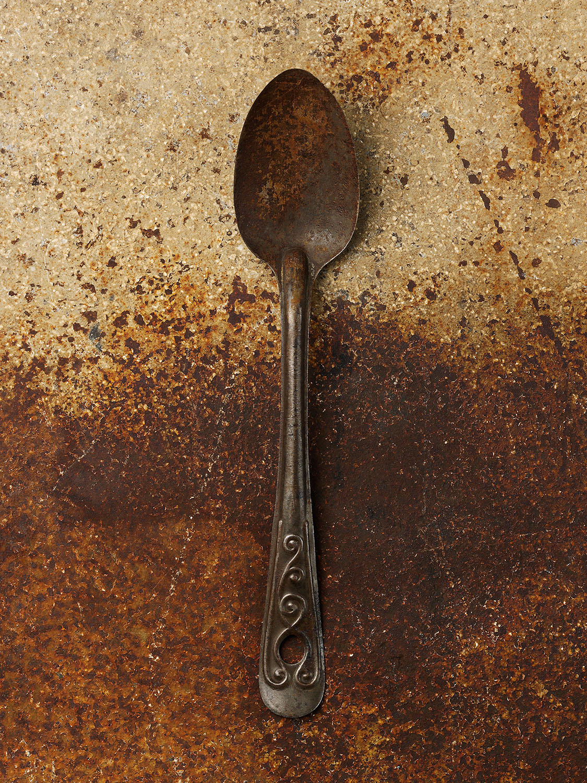 #66 Large Metal Spoon