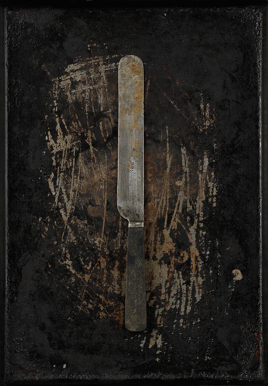 #35 Black Bone Handle Knife