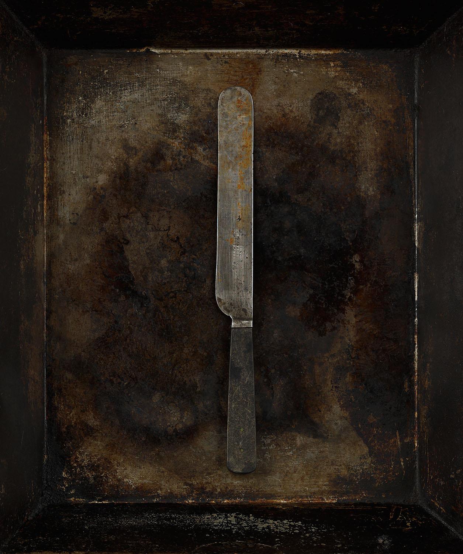 #38 Black Bone Handle Knife