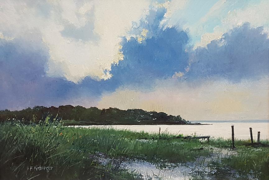 """""""Oracoke Sunset"""" by Fredrick Kirberger Size: 6.5 x 8.5 in    $425"""