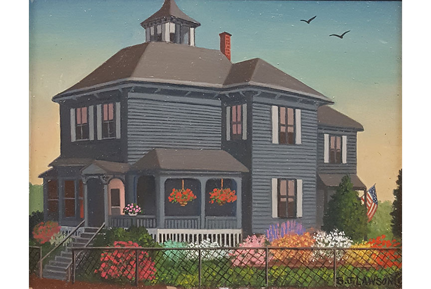 """The Gray House"" by B.J. Lawson Size: 5 x 6 in.  $200"