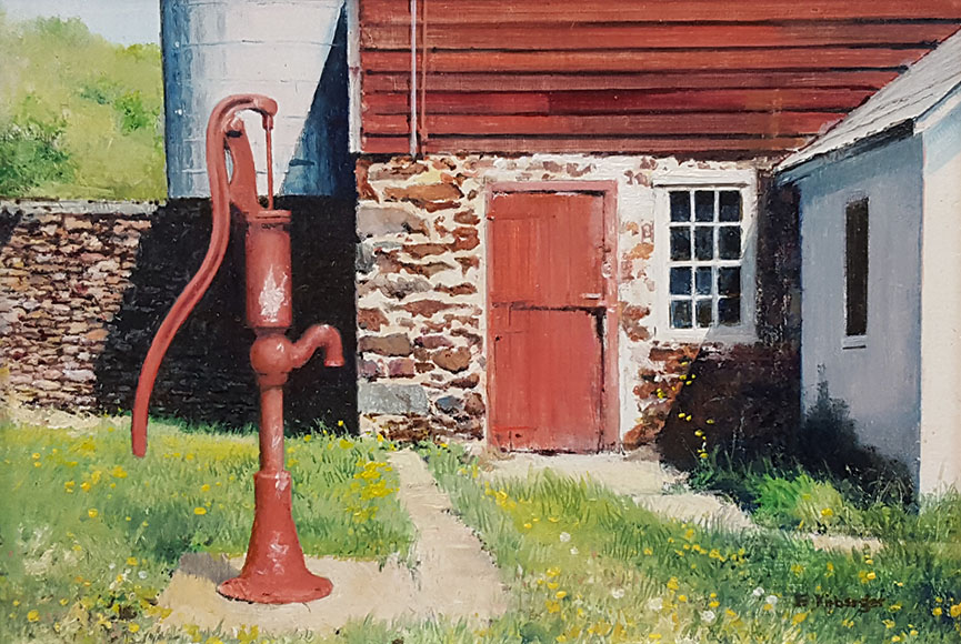"""Prime the Pump"" by Fredrick Kirberger Size: 6.5 x 8.5 in $475"