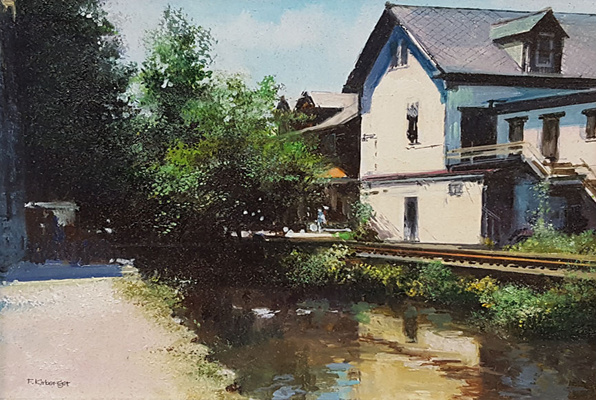 """The Canal"" by Fredrick Kirberger Size: 6.5 x 7.5 in.  $450"