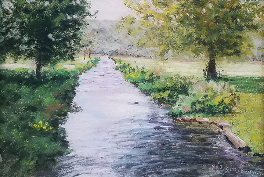 """Ringwood Creek 2"" by Judith Banyas Size: 10.75x13.75 in. $125"