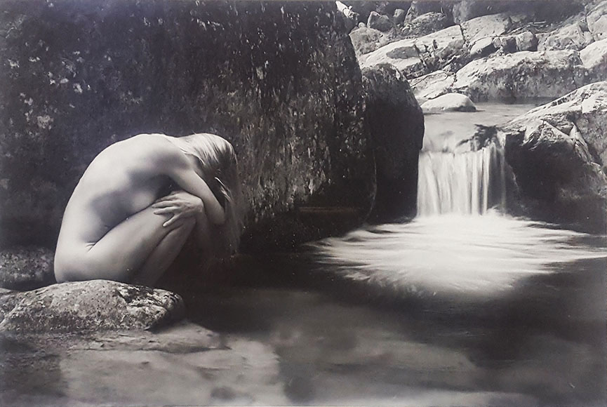 """Nude on the Bouquot River"" by Herb Chong Size: 16x21.5 in.  $300"
