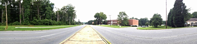 Wilkinson Boulevard at Gaston College, looking east