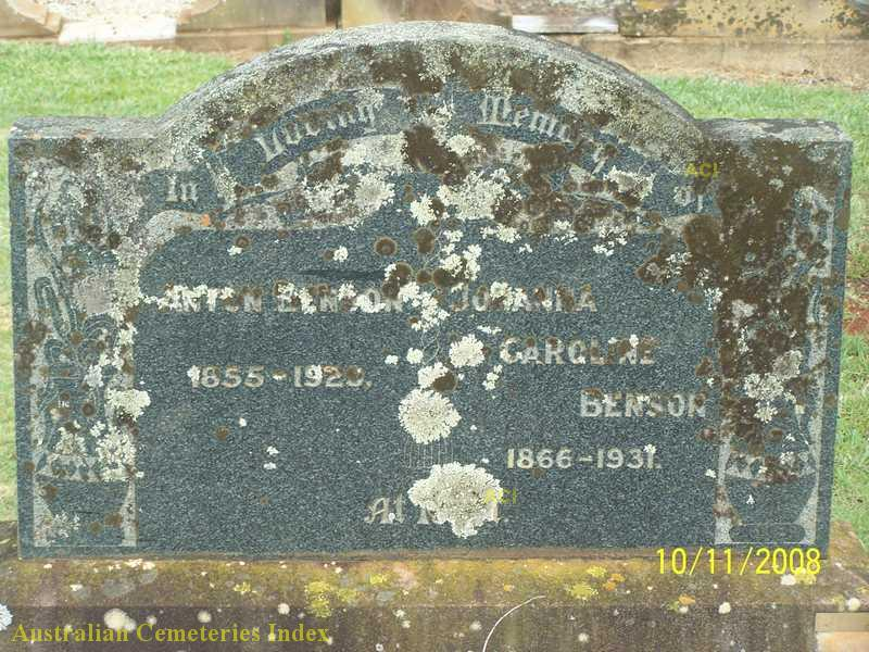 Anton and Johanna's grave at Drayton Cemetery, Australian Cemetery Index, Photo by unknown.