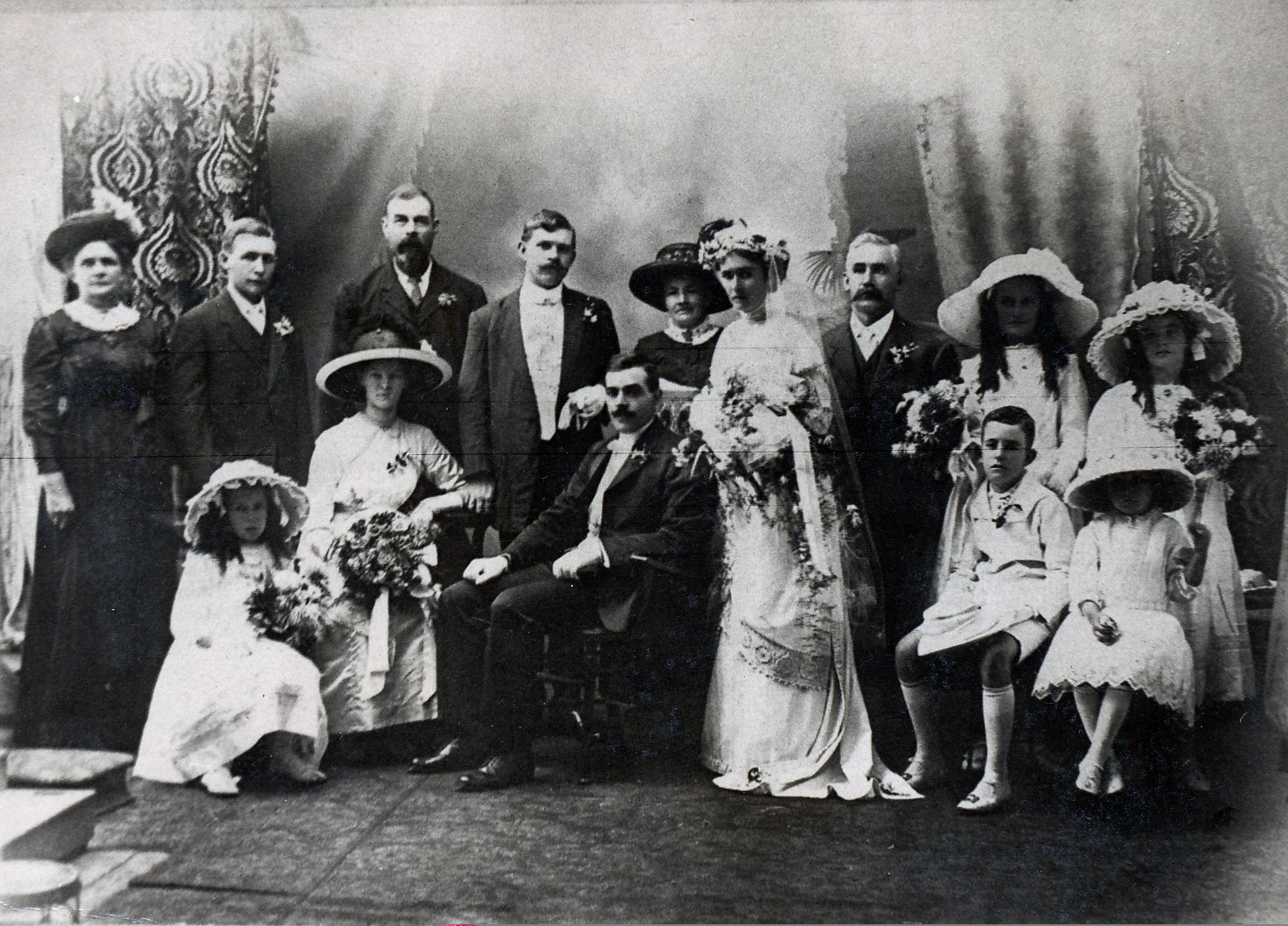 Wedding of Johan Benson and Eleanor Emmerson 1923, Photograph by unknown .