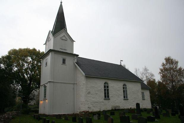 Hurum church, Photograph by unknown .