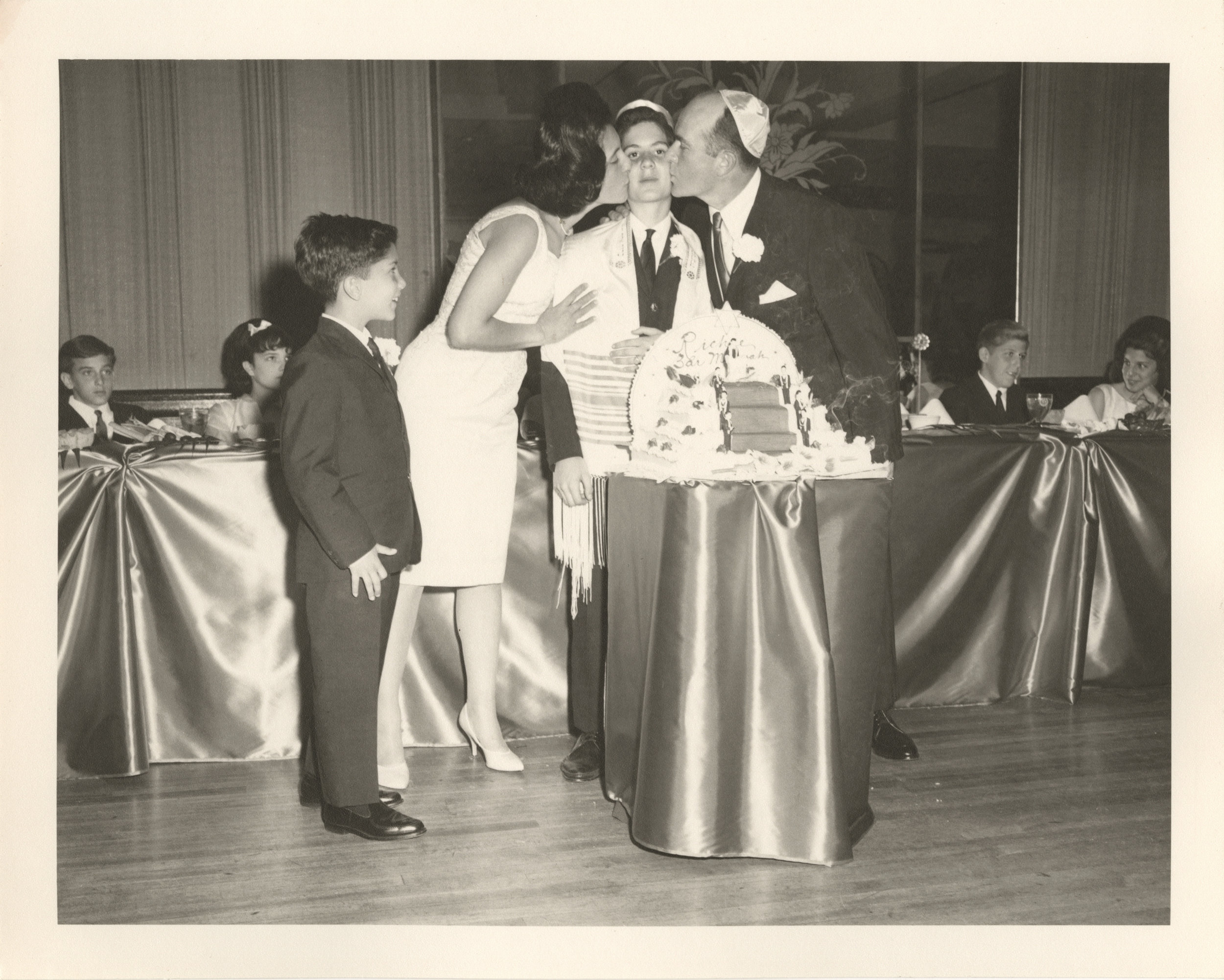 The moment my father 'becomes a man' at his Bar Mitzvah (1963).