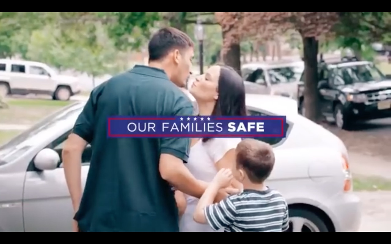 An American Family in Donald Trump's campaign ad.
