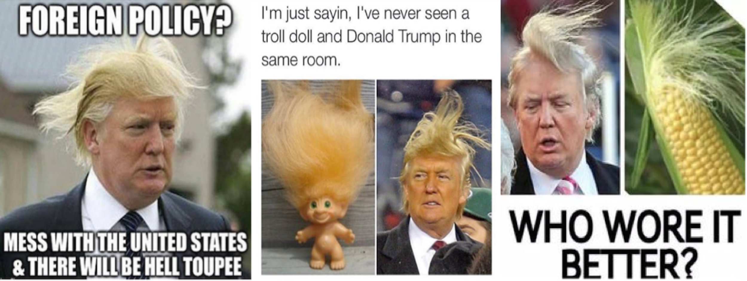 """Random memes. Trump """"enjoys"""" the rhetorical benefit of objectifying women (often in the most reductive sense: a quantitative scale of 1-10). Game in: Trump himself is a man afraid of the aging process, a paltry old man, to recall Yeats, afraid of his own embodiment relative to his own standard of measure. A narcissistic, paranoiac despot, indeed."""