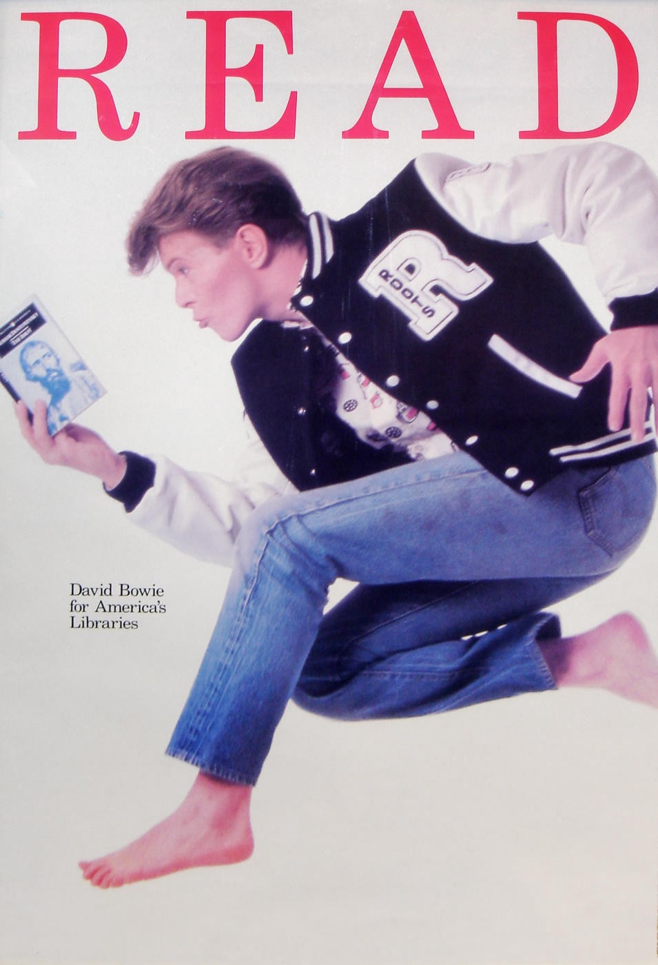 Limited Edition David Bowie READ Poster, 1987.