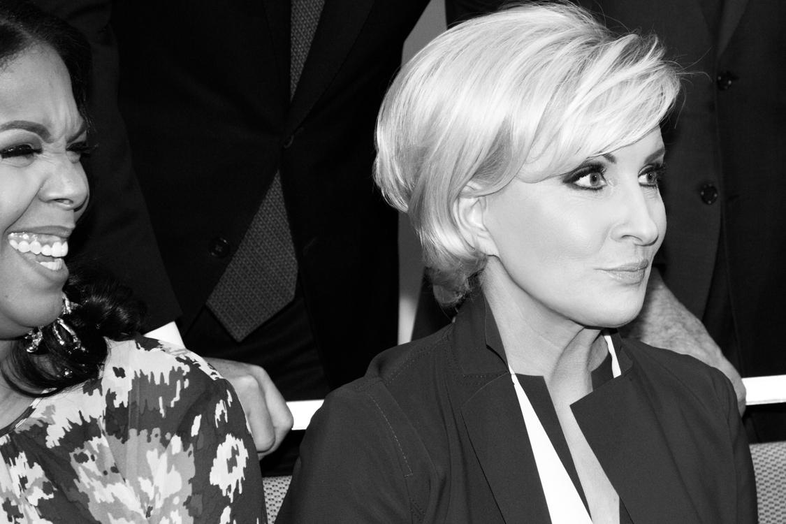 Dia Simms and Mika Brzezinski at the 2018 Matrix Awards