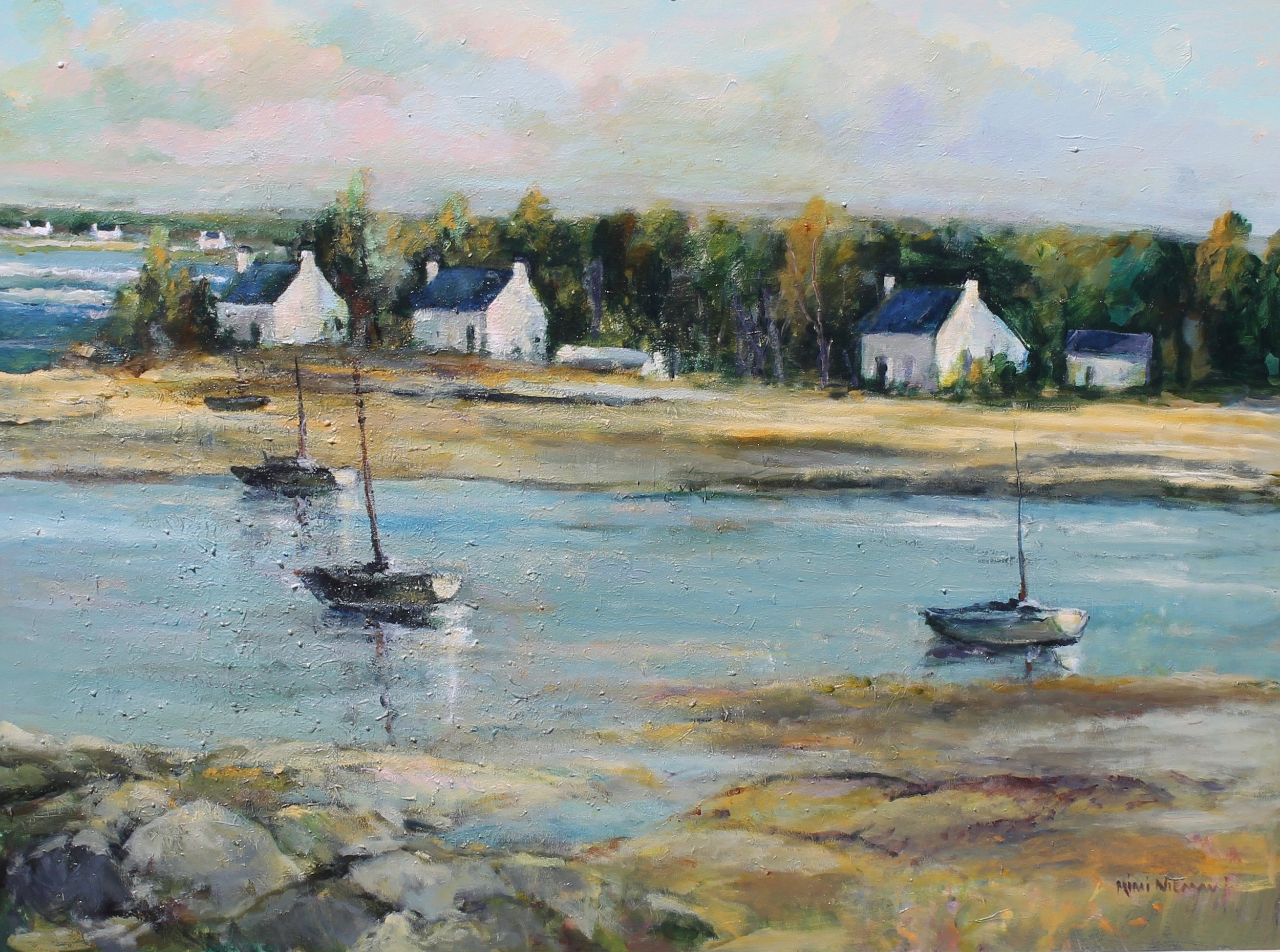 """Low Tide at Brittany, 36""""x48"""""""