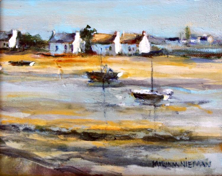 """Low Tide at Brittany, 8""""x10"""", Oil on canvas"""