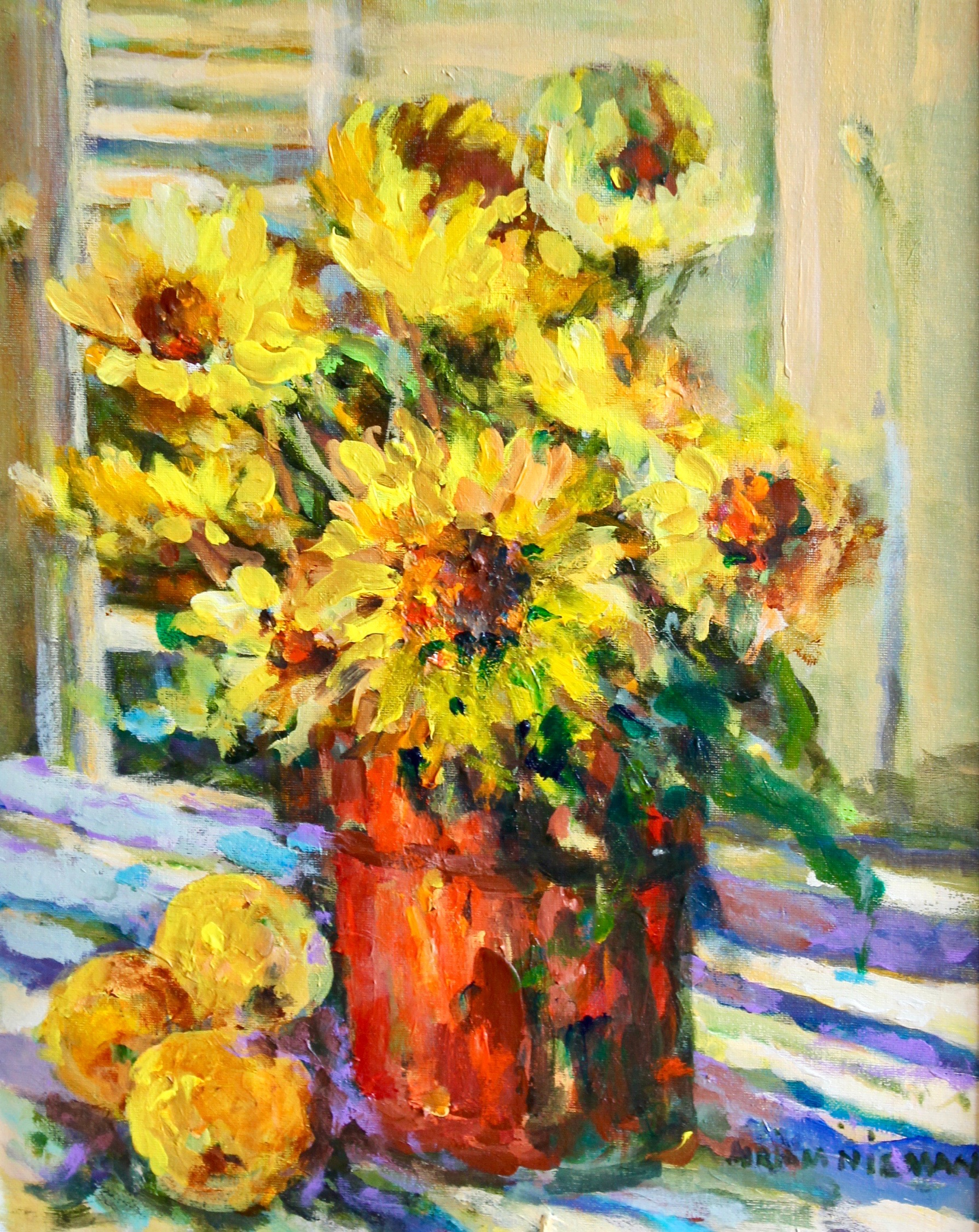 """Sunflowers"", 20""x16"", Oil on canvas"