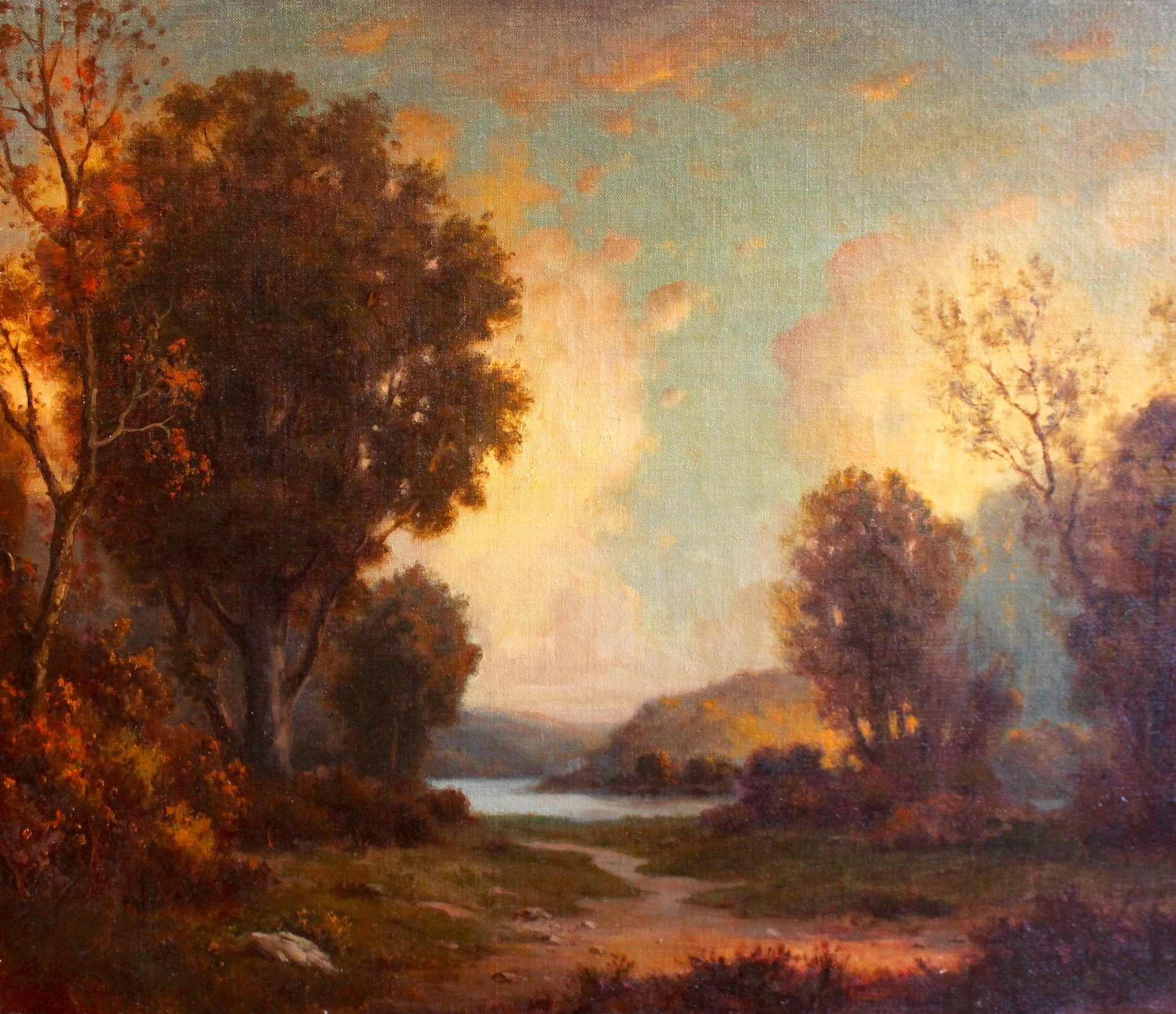 """""""Autumn Landscape I"""", Oil on canvas, 25.5x30 in."""
