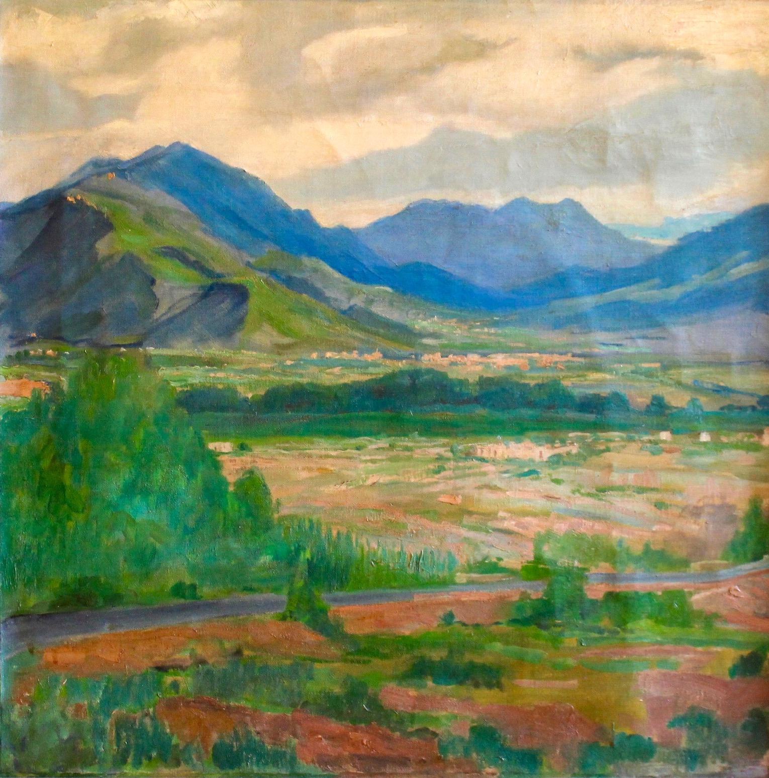 """Californian Landscape"", Oil on canvas, 28""x28"""
